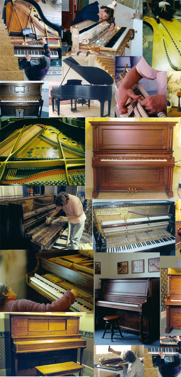 collage of Priscilla's piano work